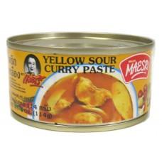 Maesri Yellow sour curry paste 114g เครื่องแกงเหลือง ตราแม่ศรี
