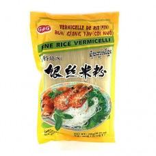 CAG Fine RIce Vermicelli Yellow Pk 300g เส้นขนมจีนอบแห้ง ขนาดเล็ก แพคเหลือง ตราซีเอจี
