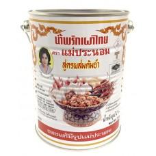 Mae Pranom Chilli Paste for Tomyum 3kg น้ำพริกเผา สูตรผสมต้มยำ ตราแม่ประนอม ขนาดถังใหญ่