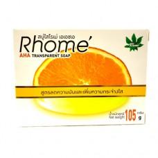 Rhome AHA Transparent Soap 105g สบู่ใสโรเม่ เอดเอชเอ
