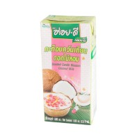 Aroy-D Coconut Milk with scented candle UHT 1Litre กะทิอบควันเทียน ขนาด 1 ลิตร ตราอร่อยดี